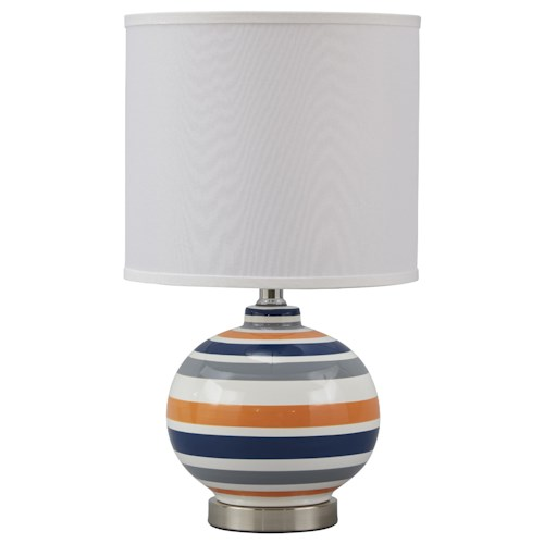 Signature Design by Ashley Lamps - Contemporary Sirene Ceramic Table Lamp