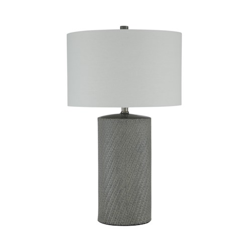 Signature Design by Ashley Lamps - Vintage Style Shelleny Gray/Green Ceramic Table Lamp