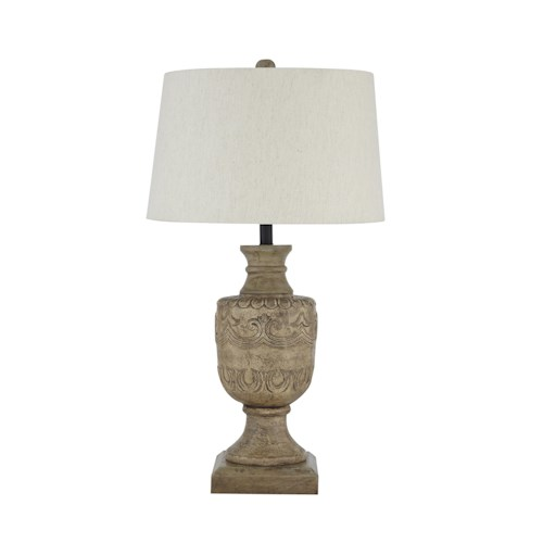 Signature Design by Ashley Lamps - Vintage Style Shobana Natural Table Lamp