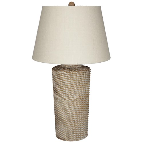 Signature Design by Ashley Lamps - Vintage Style Stefenney Rattan Table Lamp