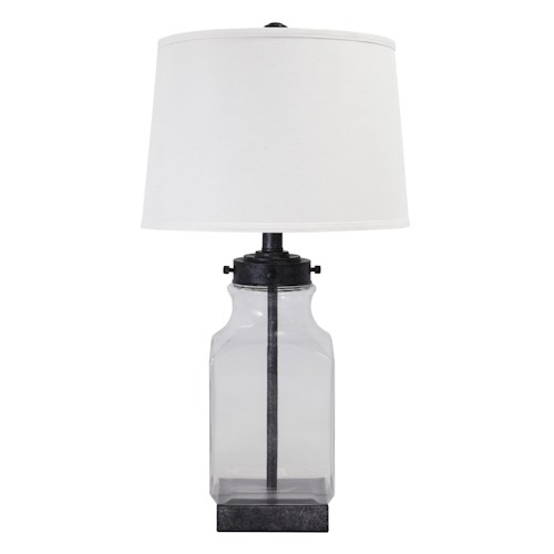 Signature Design by Ashley Lamps - Vintage Style Glass Table Lamp
