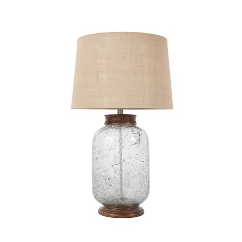 Signature Design by Ashley Lamps - Vintage Style Shaunette Seeded Glass Table Lamp