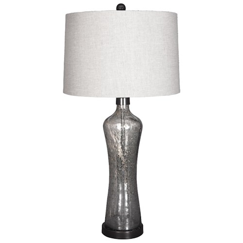 Signature Design by Ashley Lamps - Vintage Style Sharrona Glass Table Lamp