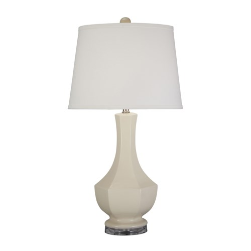 Signature Design by Ashley Lamps - Traditional Classics Suellen Cream Ceramic Table Lamp