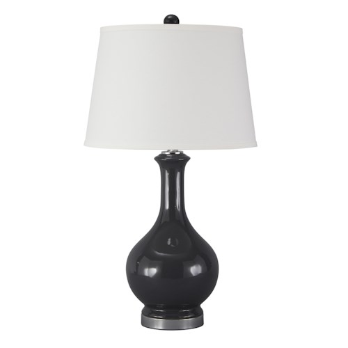 Signature Design by Ashley Lamps - Traditional Classics Shavonnia Blue Ceramic Table Lamp