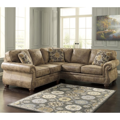 Signature Design by Ashley Larkinhurst - Earth Traditional Roll Arm Corner Sectional