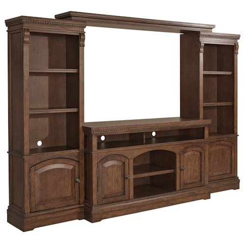 Signature Design by Ashley Larrenton Tradtional Entertainment Wall Unit