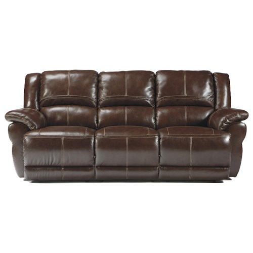 Signature Design by Ashley Lenoris - Coffee Leather Match Reclining Sofa