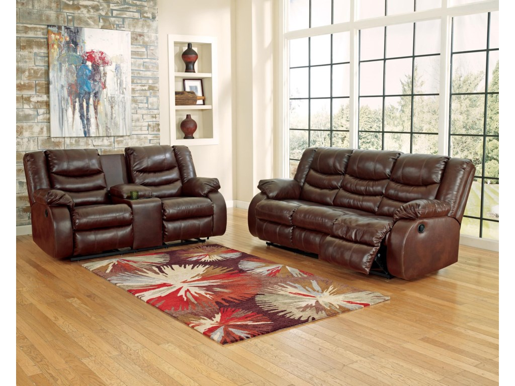 Shown with Double Reclining Loveseat with Console
