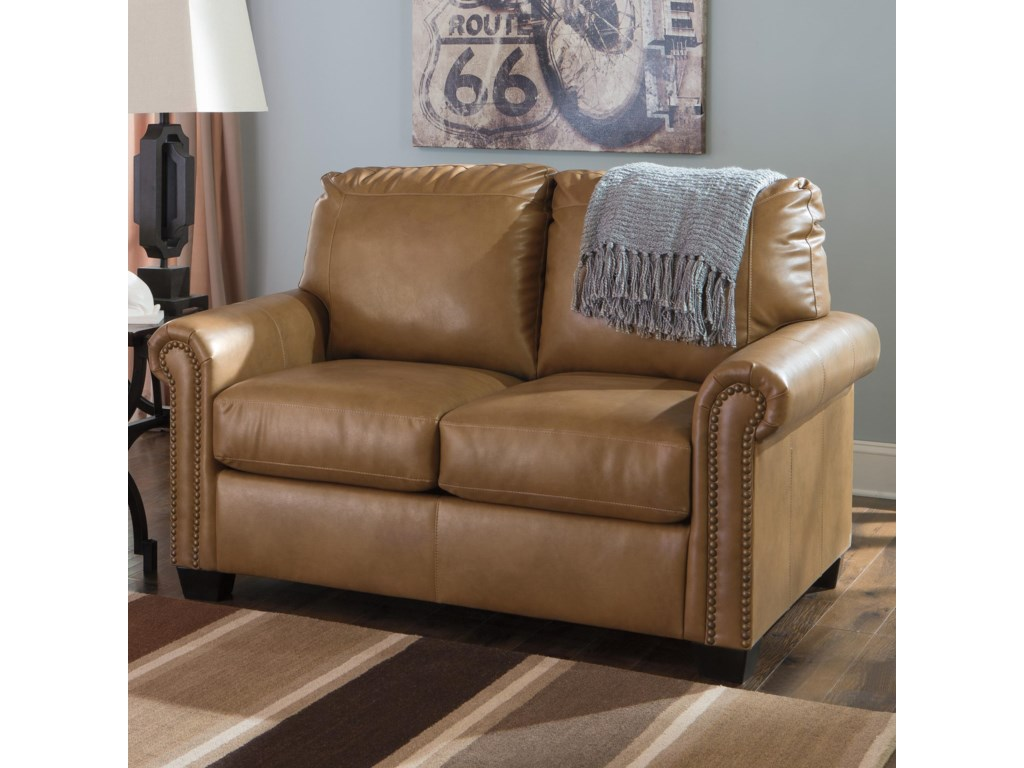 Signature Design by Ashley Lottie DuraBlend Transitional Bonded – Twin Sofa Sleeper