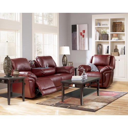 Signature Design by Ashley Magician DuraBlend - Garnet Reclining Living Room Group