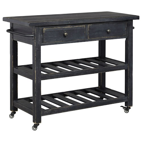 Signature Design By Ashley Marlijo Distressed Black Finish
