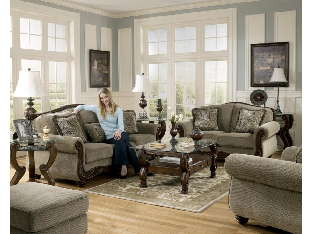 Shown with Ottoman, Sofa, Loveseat, and Chair