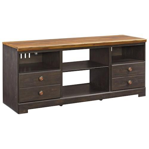 Signature Design by Ashley Maxington Two-Tone Large TV Stand