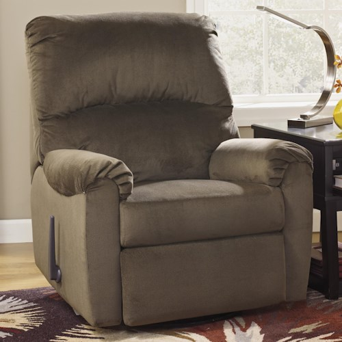 Signature Design by Ashley McFarin - Umber Casual Swivel Glider Recliner