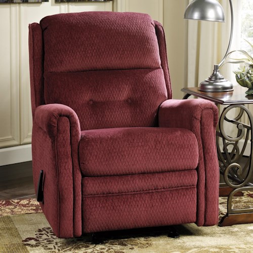 Signature Design by Ashley Meadowbark Transitional Glider Recliner