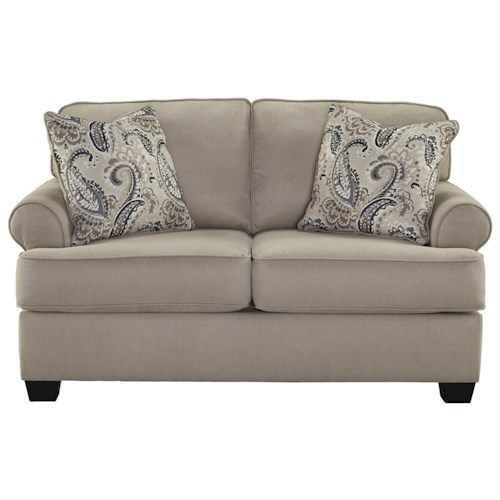 Signature Design by Ashley Melaya Transitional Loveseat with Rolled Arms