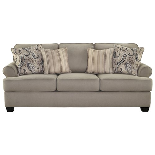 Signature Design by Ashley Melaya Transitional Sofa with Rolled Arms