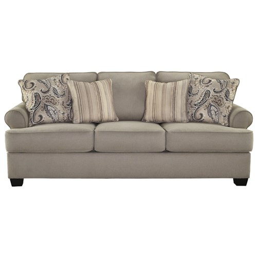 Signature Design by Ashley Melaya Transitional Queen Sofa Sleeper with Memory Foam Mattress