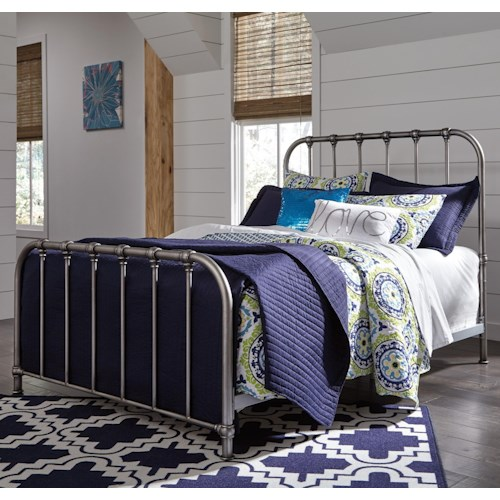 Ashley Furniture Roseville: Signature Design By Ashley Nashburg Queen Metal Bed In
