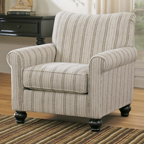 Signature Design by Ashley Milari Transitional Stripe Accent Chair