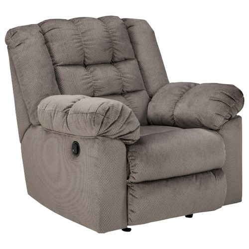 Signature Design by Ashley Mort Casual Contemporary Rocker Recliner