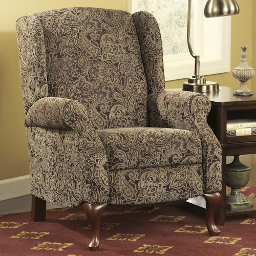 Signature Design by Ashley Nadior - Paisley Wing Back High Leg Recliner