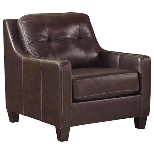 Signature Design by Ashley O'Kean Contemporary Leather Match Chair