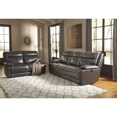 Signature Design by Ashley Palladum Reclining Living Room Group