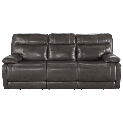 Signature Design by Ashley Palladum Leather Match Contemporary Reclining Sofa