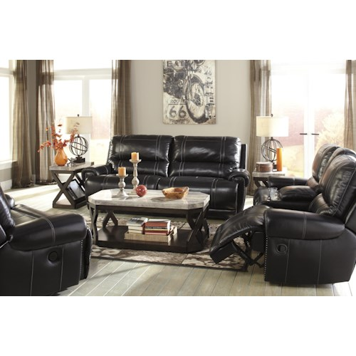 Signature Design by Ashley Paron - Antique Reclining Living Room Group