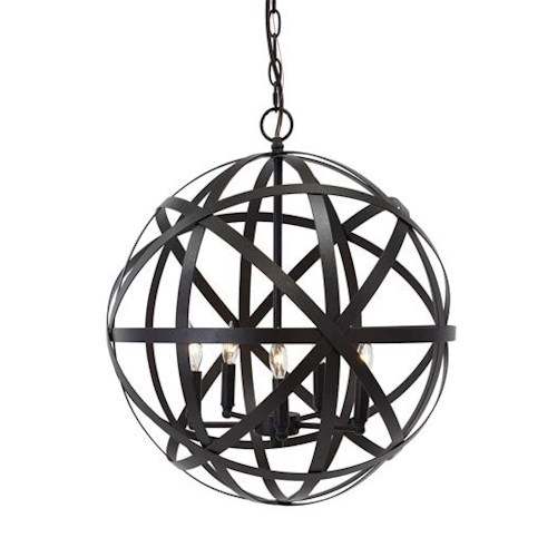 Signature Design by Ashley Pendant Lights Cade Antique Bronze Finish Metal Pendant Light
