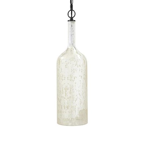 Signature Design by Ashley Pendant Lights Caden Silver Finish Glass Pendant Light