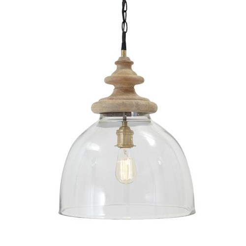 Signature Design by Ashley Pendant Lights Farica Transparent Glass Pendant Light