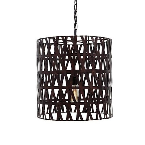 Signature Design by Ashley Pendant Lights Faolan Antique Copper Finish Metal Pendant Light