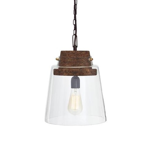 Signature Design by Ashley Pendant Lights Hakeem Clear/Brown Glass Pendant Light