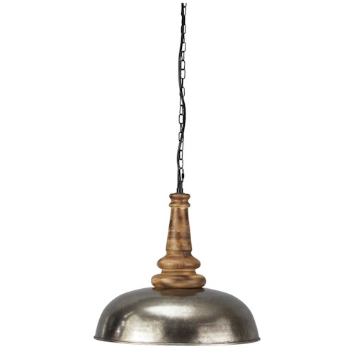 Signature Design by Ashley Pendant Lights Joziah Antique Silver Finish Metal Pendant Light