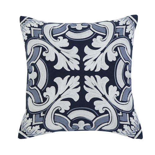 Signature Design by Ashley Pillows Medallion - Navy