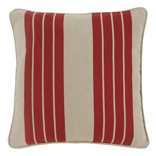 Signature Design by Ashley Pillows Striped - Red Pillow Cover