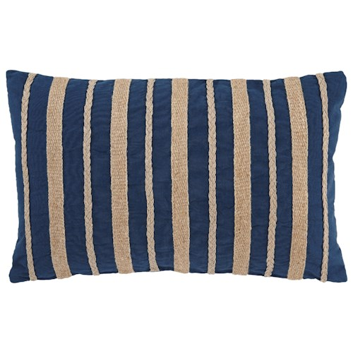 Signature Design by Ashley Pillows Zackery Blue Pillow