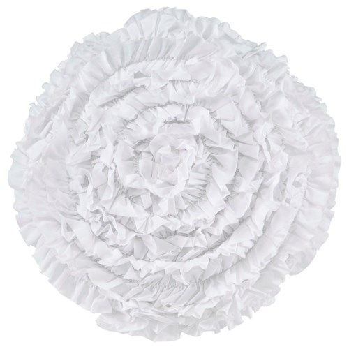Signature Design by Ashley Pillows Bloompier - White Pillow