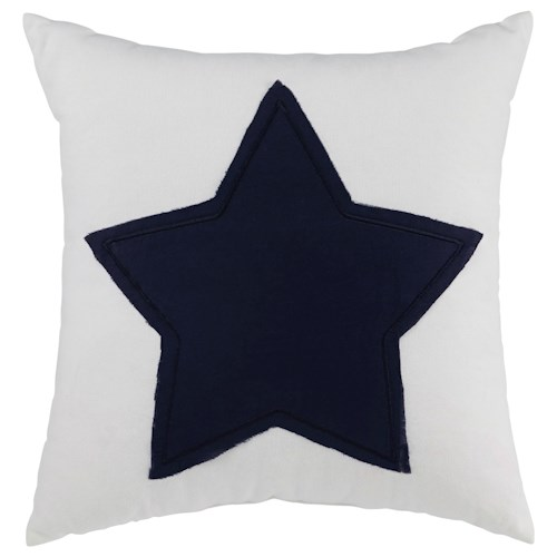 Signature Design by Ashley Pillows Gilead - White/Navy Pillow