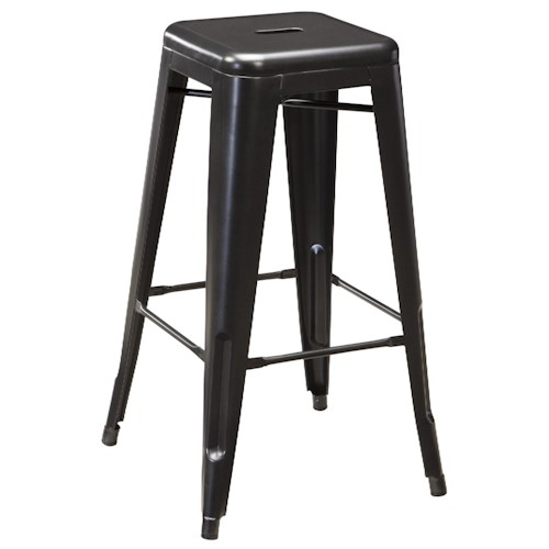 Signature Design by Ashley Pinnadel Retro Contemporary Metal Tall Stool