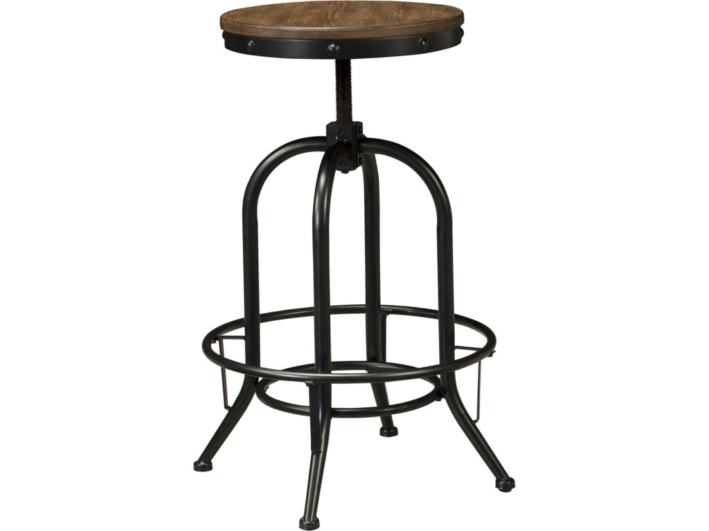 Industrial Pub Table Sets Signature Design By Ashley Pinnadel 5 Piece Bar Table Set With