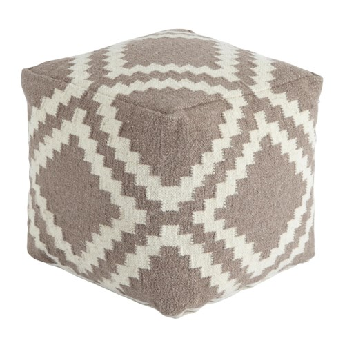 Signature Design by Ashley Poufs Geometric - Gray Pouf