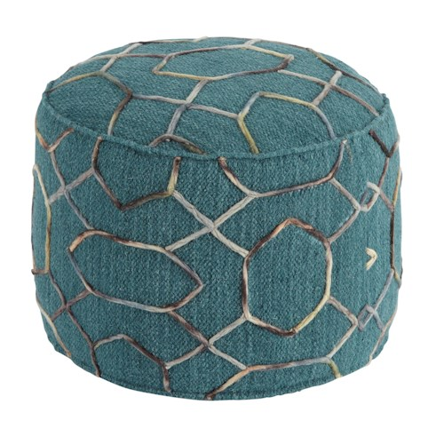 Signature Design by Ashley Poufs Overdyed - Dark Green Pouf