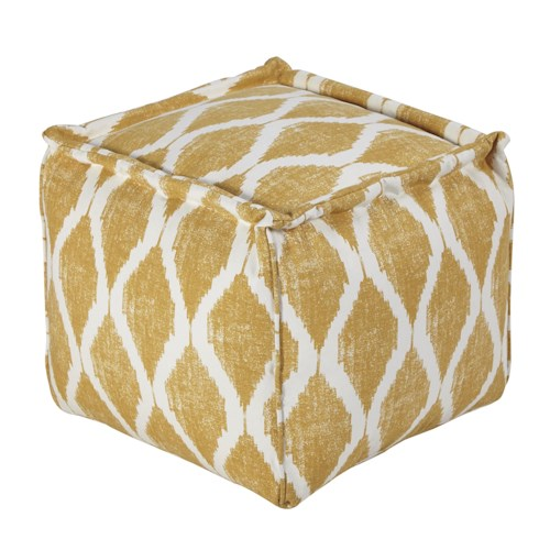 Signature Design by Ashley Poufs Bruce - Yellow/White Pouf