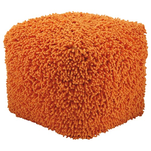 Signature Design by Ashley Poufs Taisce - Orange Pouf