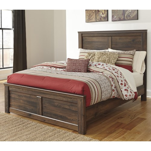 Signature Design by Ashley Quinden King Panel Bed with Low-Profile Footboard