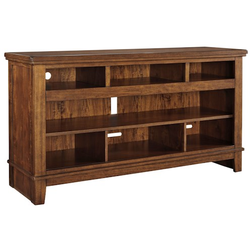 Signature Design by Ashley Ralene Contemporary Extra Large TV Stand with Acacia Veneer
